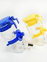 Chat Chien Bols & Bouteilles d\'eau Animaux de Compagnie Bols & alimentation Portable Bleu Jaune Plastique