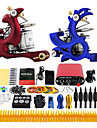 Solong Tattoo Complete Tattoo Kit 2 Pro Machines 14 Inks Power Supply Foot Pedal Needles Grips Tips TK226