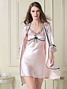 Feminin Lenjerie din Dantelă Satin & Mătase Ultra Sexy Costume Pijamale,Subțire Dantelă Satin Mătase Mătase de Gheață-Sexy Dantelă Solid