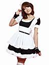 Costumes de Cosplay Tenus de Servante Fete / Celebration Deguisement d\'Halloween Rose Noir Couleur Pleine Carnaval Feminin Coton