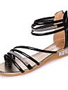 Damă Sandale Confortabili PU Primăvară Confortabili Toc Plat Auriu Negru Argintiu Plat