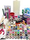 au 96 acrylique kit art liquide de poudre de clou glitter gel uv conseils de colle brosse mis nouveau