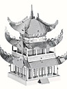Puzzle 3D Puzzle Metal pentru cadouri Building Blocks Jucărie de Construit & Model Clădire celebru Arhitectura Chineză Arhitectură Metal