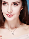 Hänge Halsband Kristall Kristall Oval Form Enkel design Hängande stil Mode Mörkblå Smycken Dagligen Casual 1st