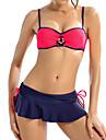 Dame Spandex Bustieră,Bikini Monocolor Bloc Culoare