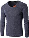 Bărbați În V Tricou Sport Casul/Zilnic Plus Size Simplu(ă) Activ,Mată Manșon Lung Vară-Subțire Bumbac Celofibră