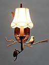 norr Amercian vintage metall med harts fågel och kotte vägglampa passar för vardagsrummet / matsal vägglampa