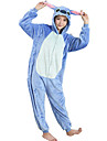 kigurumi Pyjamas Dessin-Anime Collant/Combinaison Fete / Celebration Pyjamas Animale Halloween Bleu Mosaique FlanelleCostumes de Cosplay