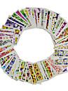 1set 48sheets Autocollant d\'art de clou Autocollants de transfert de l\'eau Maquillage cosmetique Nail Art Design