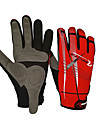 Gants Cyclisme Pare-vent Antiderapage Unisexe Rouge Noir Coton Nylon