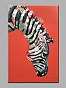 Peint a la main Abstrait Animal Verticale,Moderne Un Panneau Toile Peinture a l\'huile Hang-peint For Decoration d\'interieur