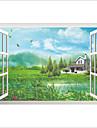 Arhitectură Botanic Peisaj Perete Postituri Autocolante perete plane 3D Acțibilduri de Perete Autocolante de Perete Decorative,Vinil