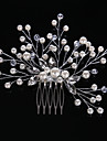 Ștras Cristal Imitație de Perle Diadema-Nuntă Ocazie specială Informal Birou & carieră Piepteni de Păr 1 Bucată