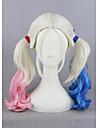 court harleen quinzel harley couleur de 18 pouces quinn mixte synthetique perruques de cosplay anime cs-269a