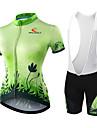 Maillot et Cuissard de Cyclisme Femme Manches courtes VeloCollant a Bretelles/Corsaire Bretelles Cuissard / Short Maillot Shorts