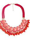 Pentru femei Coliere cu Pandativ imitație de diamant Vintage Euramerican Rosu Verde Deschis Bijuterii Pentru Petrecere 1 buc