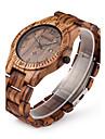 Bărbați Ceas de Mână Unic Creative ceas Ceas Lemn Quartz Quartz Japonez Calendar Lemn Bandă Luxos Maro