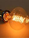 E27 ac220-240v d80 40w lanternes jaunes chaudes autour du fil de retour a la lampe decorative 1pcs