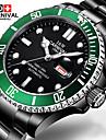 Carnival Bărbați Ceas La Modă Ceas de Mână ceas mecanic Mecanism automat Oțel inoxidabil Bandă Negru Negru/Verde