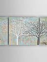 Pictat manual Natură moartă Orizontal,Modern Trei Panouri Canava Hang-pictate pictură în ulei For Pagina de decorare
