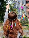 Pană Diadema-Nuntă Ocazie specială Informal Birou & carieră ExteriorFlori Pălării/Căciuli Στεφάνια Lănțișor de cap Clipuri de Păr Cravată