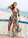 2017 plajă nou boem rochie de sifon rochie de vară pe litoral recurg mare rochie de leagăn de sub sex feminin