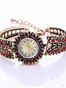Ceas La Modă Ceas Brățară Quartz Aliaj Bandă Vintage Charm Cool Casual Creative Auriu Alb Rosu