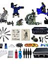 Kit de tatouage complet1 x Machine a tatouer en acier pour le tracage et l\'ombrage 2 x Machine a tatouer rotative pour le tracage et