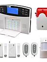 Voce lcd fără fir sistem de alarmă gsm alarmă cu detector de pir ușă strobe sirenă sms apel alarme alarma securitate acasă