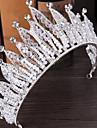 Ștras Aliaj Diadema-Nuntă Ocazie specială Exterior Tiare Ac de Păr 1 Bucată