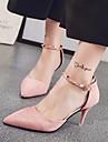 Damă Tocuri Primăvară Vară Confortabili Pantofi Club Piele de Căprioară Birou & Carieră Rochie Toc Stiletto Ținte CataramăNegru Roz