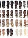Hästsvanshårstycken 22inch 100g syntetiska hårförlängningar drabbar långvåg som bilderfärger