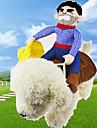 Chien Costume Vetements pour Chien Ete Printemps/Automne Dessin-Anime Mignon Cosplay cow-boy Bleu