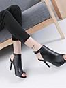 Damă Tocuri Primăvară Pantofi Club PU Casual Negru