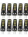 3W G4 LED a Double Broches 16 SMD 2835 200-300 lm Blanc Chaud Blanc Naturel Blanc Decorative V 10 pieces