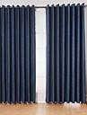 Două Panouri Tratamentul fereastră Modern Sufragerie Amestec de In/ Poliester Material perdele, draperii Pagina de decorare For Fereastră