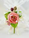 Flori de Nuntă Trandafiri Butoniere Petrecere / Seară Logodnă Petrecerea Bridal Shower Petrecere/Cocktail Bumbac Mătase