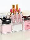 Complexe acrylique combine double couche maquillage brosse pot cosmetiques organiseur de stockage 2pcs set