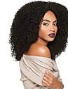 Femme Perruque Synthetique Sans bonnet Long Frises Afro Noir Perruque afro-americaine Pour Cheveux Africains Perruque Naturelle Perruque