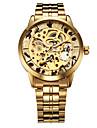 WINNER Bărbați Ceas de Mână ceas mecanic Mecanism automat Gravură scobită Oțel inoxidabil Bandă Luxos Auriu Auriu Argintiu Argintiu Auriu