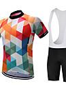 SUREA Maillot et Cuissard a Bretelles de Cyclisme Homme Manches courtes VeloCuissard / Short Chemise Shirt Maillot Collant a