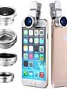 Clip 4in1 180 ochi de pește unghi larg micro teleobiectiv pentru iphone iphone iphone samsung htc
