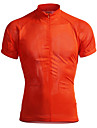 Jaggad Maillot de Cyclisme Homme Manches courtes Velo Maillot Hauts/Tops Sechage rapide Respirable Polyester Elasthanne Couleur Pleine Ete