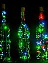1pcs 2m 20 condus în formă de plută condus de noapte stele stea lumina din sârmă de sârmă dop oprit de sticlă lampă decorare rece cald alb