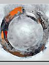 Pictură manuală cerc pictură abstractă pe panza pe panza imagine pentru decorațiuni interioare cu cadru întins gata de agățat