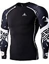 Maillot de Cyclisme Homme Manches Longues Velo Shirt Hauts/Tops Sechage rapide Vestimentaire Respirable Sport Imprime Exercice & Fitness