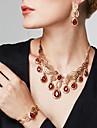 Seturi de bijuterii Brățară Inel La modă Bijuterii Statement bijuterii de lux Ștras 18K de aur Picătură Auriu PentruPetrecere Ocazie