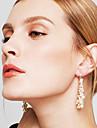 Cercei Picătură European Perle Imitație de Perle Ștras Aliaj Auriu Bijuterii Pentru Petrecere 1 pereche