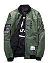 Bărbați Rotund Jachetă Alte Zilnic Casual Vintage Îndrăgostiți Casual Reversibil Sport Modă,Mată Imprimeu Manșon LungPrimăvara/toamnă