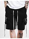 Bărbați Drept Șic Stradă Activ Punk & Gothic Talie Medie,Micro-elastic Pantaloni Chinos Pantaloni Scurți Pantaloni Ciucure Mată